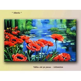 Poppies painting 100x60cm – silence