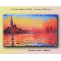 San Giorgio Maggiore at Twilight (100x60cm) Reproduction Claude Monet