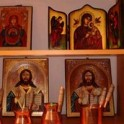 Icons and Romanian traditional triptych