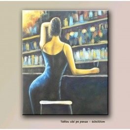 Modern painting 60x50cm - The Bistro