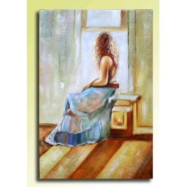 Waiting (oil painting 90x60cm)