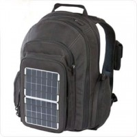 Ecological backpack with solar panels