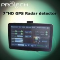 7 inch radar detector GPS with HD monitor bluetooth AV-IN