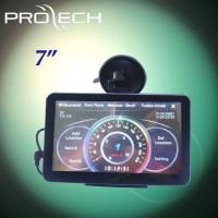 7 inch radar detector GPS with HD monitor bluetooth AV-IN