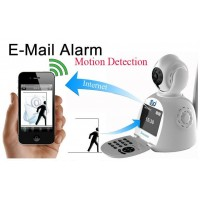 Battery Powered Security Dome ip Camera smoke detector lens detector infrared camera detector