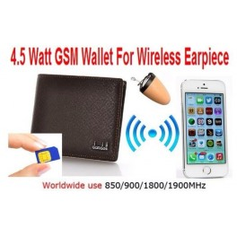 Invisible earpiece with GSM audio wallet