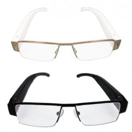 Metal glasses with hidden video camera
