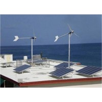 Complete solar and wind power supply system