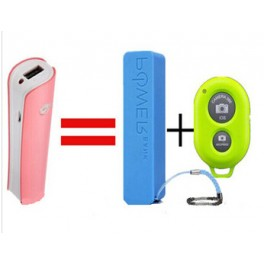 Power Bank cu telecomanda foto Bluetooth