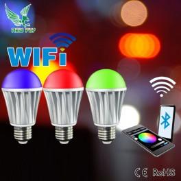 Bec multicolor controlat prin telefon Wifi