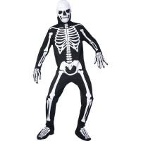 Costum complet schelet fosforescent