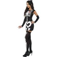 Costum fosforescent schelet sexy