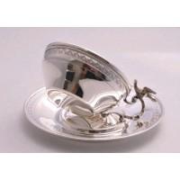 Cescuta cu farfurie din Argint masiv