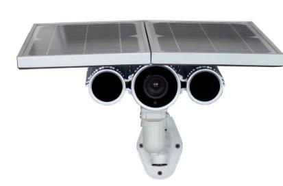 Caméra de surveillance sans fil avec panneau solaire